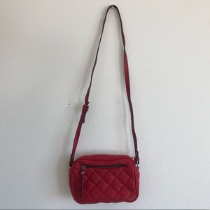 Zara red quilted bag